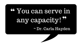 Quote you can serve in any capacity
