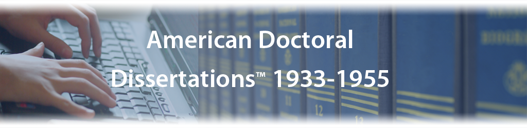 american dissertations abstracts