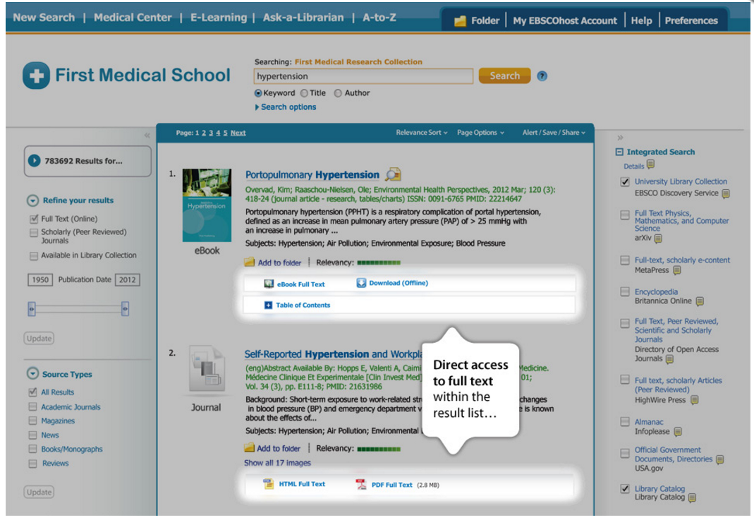 Full Text Experience | EBSCO Discovery Service