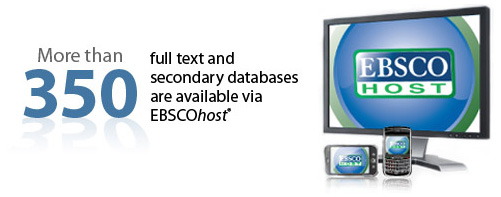 Ebscohost more than 300 databases