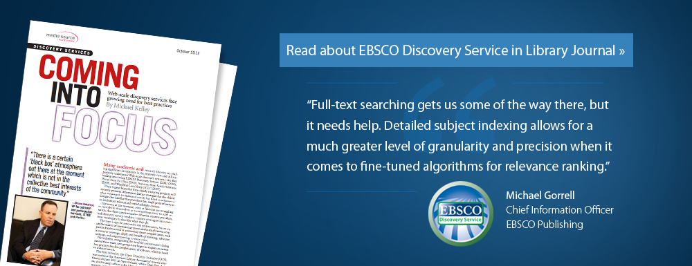 EBSCO Discovery Service article