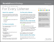 Audiobook for Every Listener Search Strategy