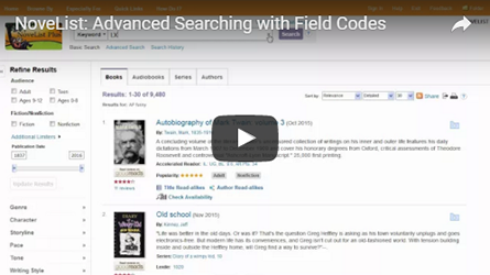 Advanced Searching with Field Codes tutorial