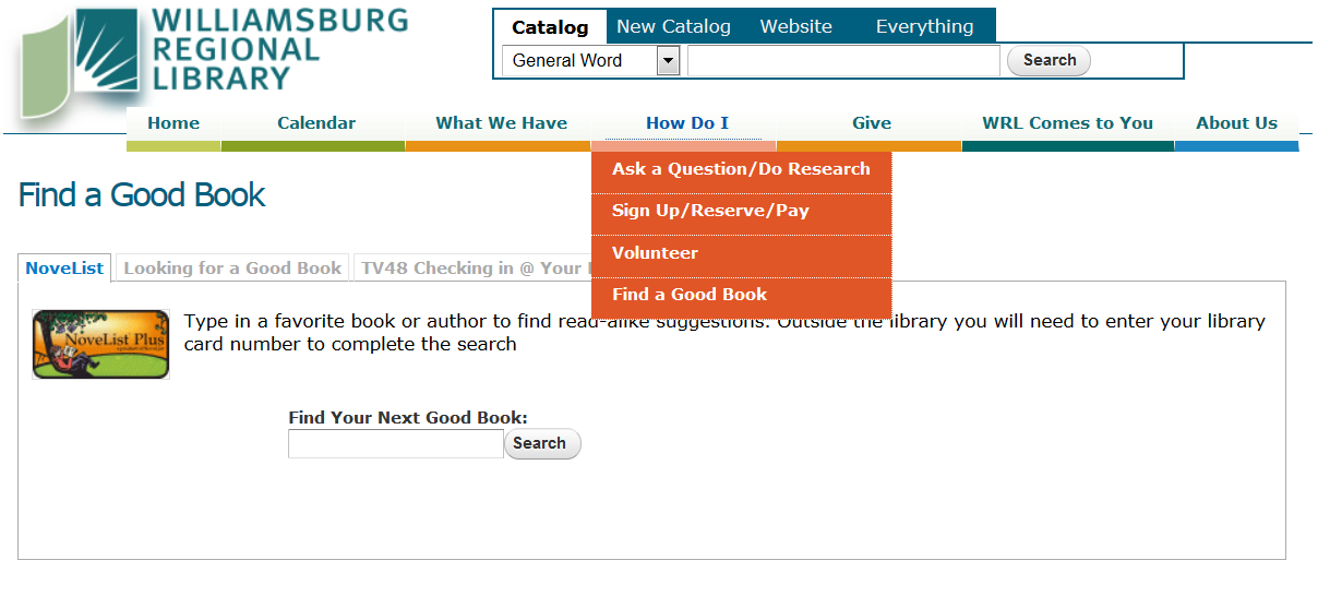 best practices for helping patrons find novelist on your library