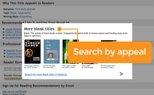 Search by appeal in NoveList Select