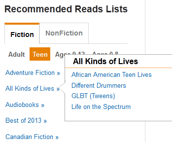 Diverse Books in All Kinds of Lives lists