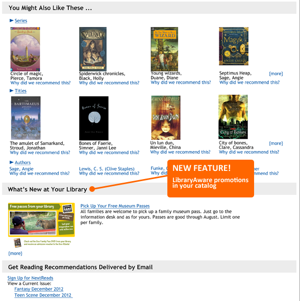 LibraryAware promotions in your catalog