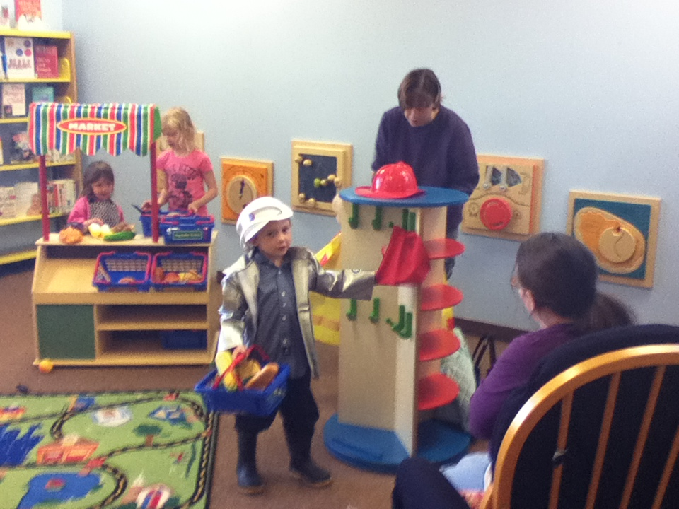 Toddlers enjoy the new Rice Lake Public Library's Early Literacy Grant Project