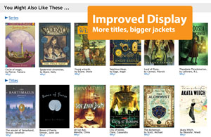 Display of Book Recommendations in Your Library Catalog