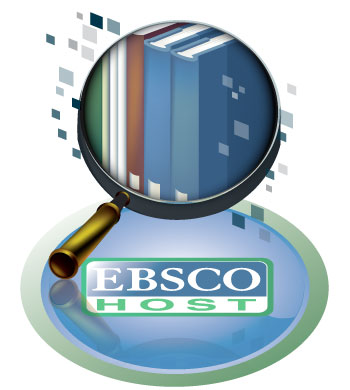 Ebscohost logo with magnifying glass